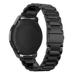 Ремешок для часов Samsung Gear S3/Galaxy Watch 46 блочный (черный) 22мм