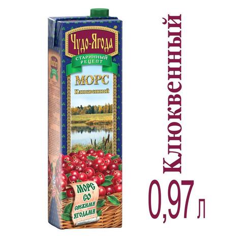 Морс Чудо-Ягода клюквенный 0.97 л
