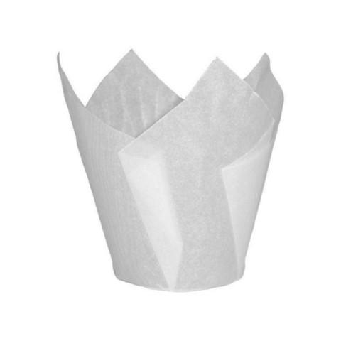 Форма-тюльпан белая, 20шт