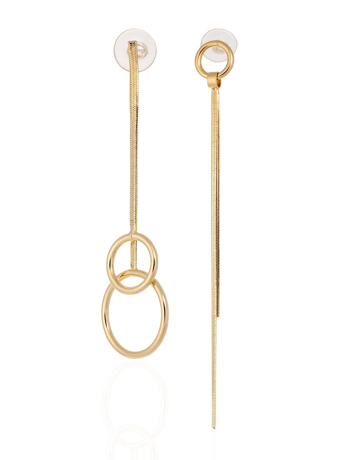 Асимметричные длинные серьги с подвесками в подарочной коробке