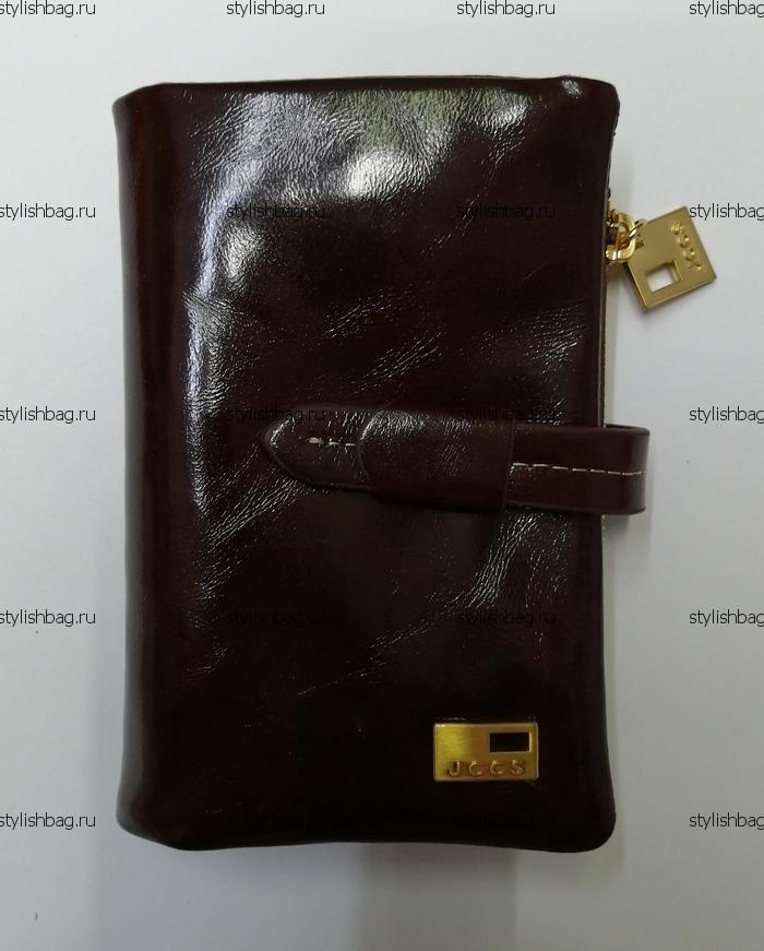 Небольшой коричневый кошелек из кожи JCCS j-1029