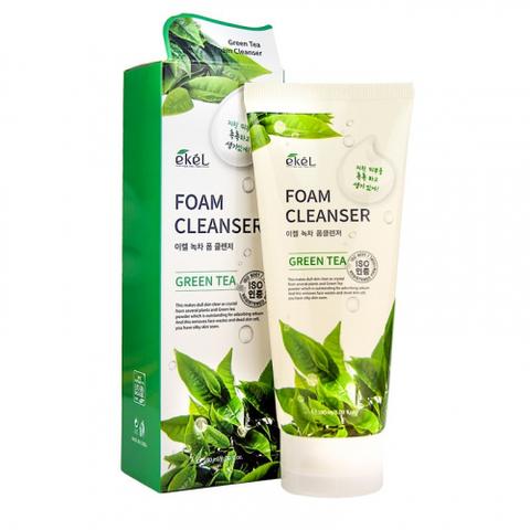 Ekel Green Tea Foam Cleanser увлажняющая пенка для умывания с экстрактом зеленого чая