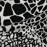 Чёрно-белые пятна на шёлковом крепдешине