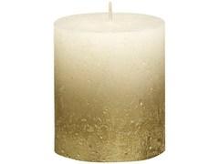 Свеча декоративная 6.8х8см Garda Decor Rustic кремовая с золотом 103668636705