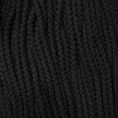 Шнур полиэфирный 5мм с сердечником 200м, Черный