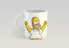 Кружка с рисунком из мультфильма Симпсоны (The Simpsons) белая 009