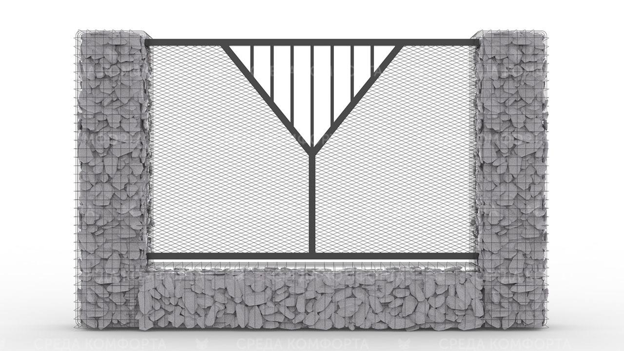 Забор из сетки рабицы ZBR0185