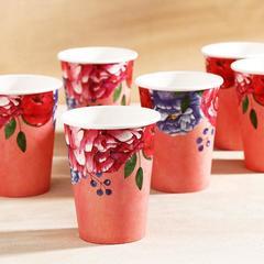 Стаканчик «Цветы» на розовом, 13,5 х 9 см