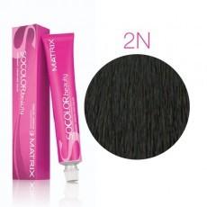 Matrix SOCOLOR.beauty: Neutral 2N натуральный черный, краска стойкая для волос (перманентная), 90мл