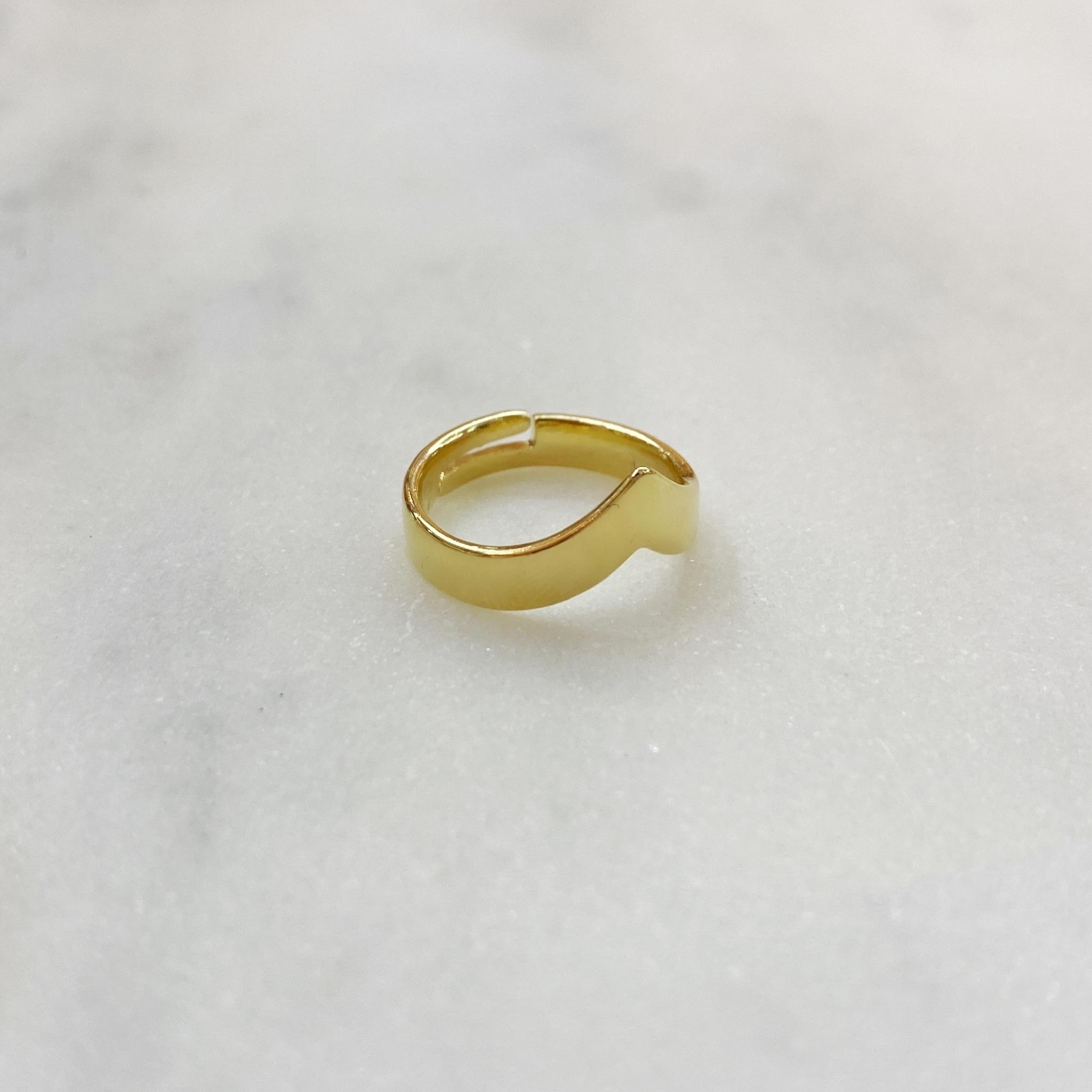 Кольцо на фалангу V-образное (золотистый)