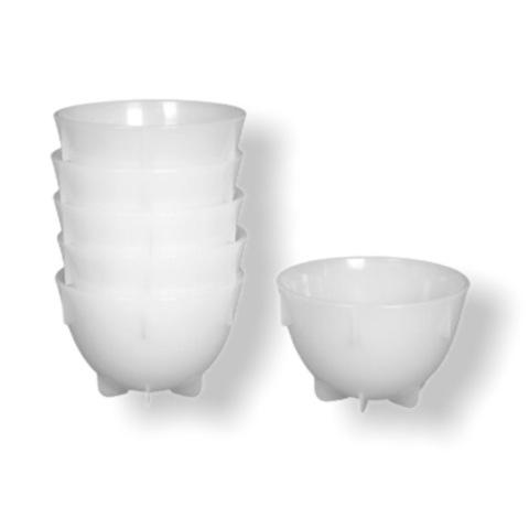 Чашки для каппинга, набор, в наборе 24 шт, белый цвет