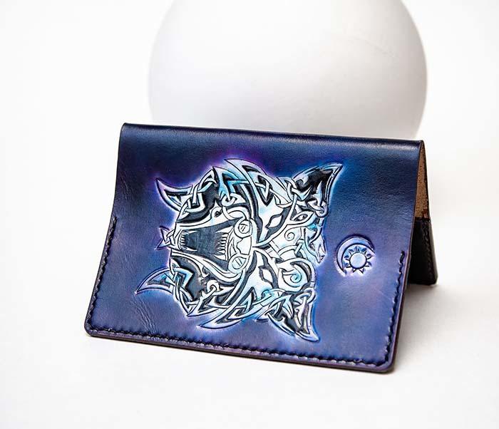 BC224 Обложка с волком в кельтском стиле, ручная роспись фото 05