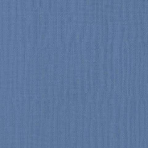 Текстурированный кардсток 30х30 American Crafts Textured Cardstock - Цвет Blue Jay