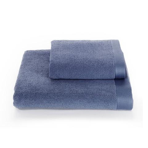 НАБОР махровый мужской халат LORD голубой с полотенцами SOFT COTTON Турция