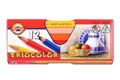Карандаши цветные jumbo TRIOCOLOR 3152, 12 цветов