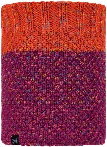 Вязаный шарф-труба с флисом Buff Neckwarmer Knitted Polar Janna Fuchsia фото 1