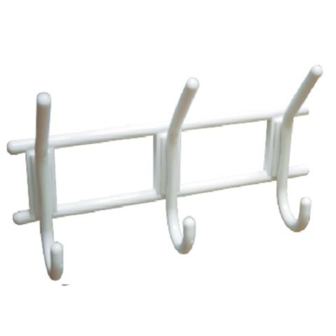 Крючок-вешалка пластмасс. снежно-белый 2,3,4 рожковая Россия (КУНГУР)