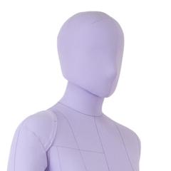 Голова для манекена Monica мягкая, женская, сиреневая, на магните, обхват 53 см