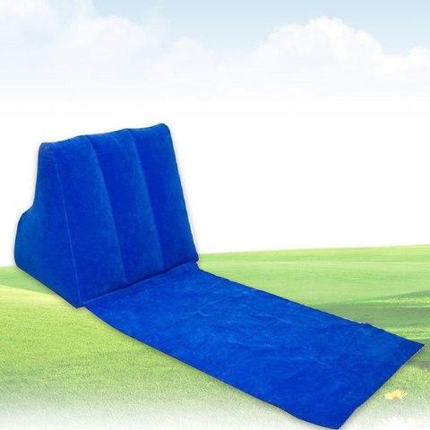 Надувная подушка с пляжным ковриком