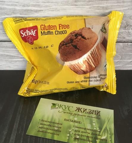 Маффины с кусочками шок Muffin Choco 65г б/глют  Schar
