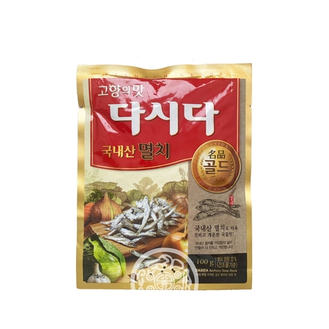 Универсальная вкусовая приправа Дашида со вкусом анчоуса 100г CJ Corp Корея