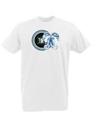 Футболка с принтом Знаки Зодиака, Близнецы (Гороскоп, horoscope) белая 0004