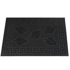 Коврик резиновый с рисунком Cleanwill DRP 211 Five leaf pin mat 400х600 мм