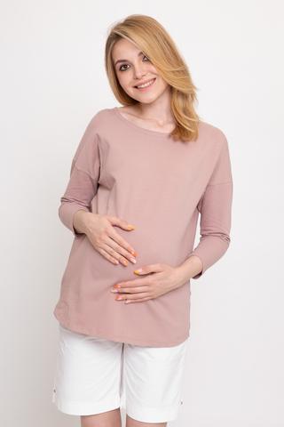 Лонгслив для беременных 11918 пыльный беж