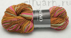 1203 / карамельно-коричневый, горчичный, светло-зелёный, ярко-розовый, неяркий оранжевый