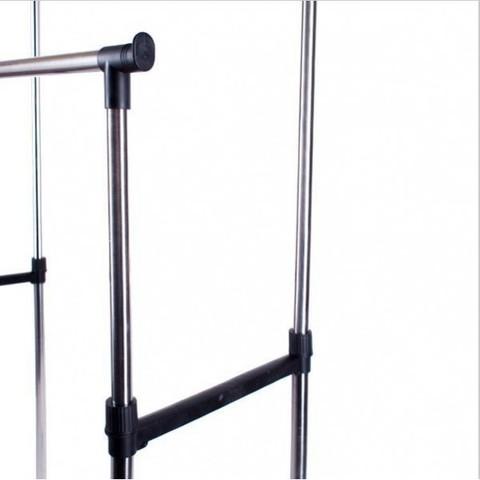 Двойная напольная передвижная стойка для одежды Double-Pole 30 кг.