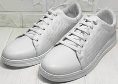 Низкие кеды кроссовки летние женские Evromoda 141-1511 White Leather.
