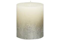 Свеча декоративная 6.8х8см Garda Decor Rustic кремовая с серебром 103668630305