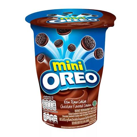 Печенье Oreo mini Chocolate Cream  в стакане с шоколадным  кремом 61.3 гр