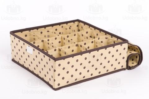 Набор из 3 органайзеров для нижнего белья с крышками 30*30*11 см