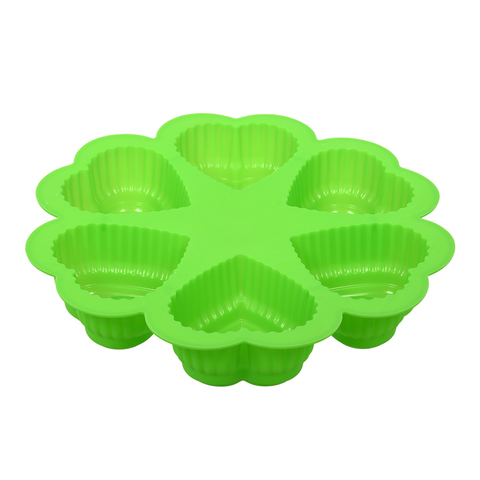 Форма для выпечки из силикона «Сердце» 24,5х4,5 см 6 ячеек