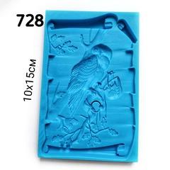 0728 Молд силиконовый. Панно сова (среднее).