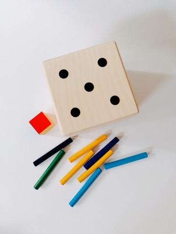 Сортер на магните, развивающая игра радужные палочки