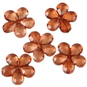 Декоративные бусины Цветы янтарь 2,1см 20шт