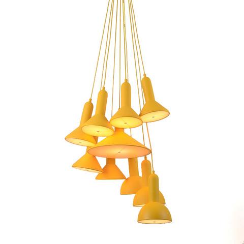 Подвесной светильник копия TORCH by Sylvain Willenz (желтый, 20 плафонов)