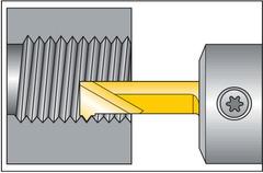 Резец резьбовой внутр., полный профиль 60°, правый L1 = 16 мм