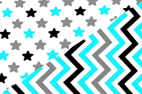"""Постельное белье """"Звезды графит, бирюза, серый - зигзаги графит, бирюза, серый"""""""
