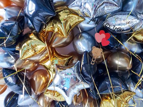 Черно-золотые шары
