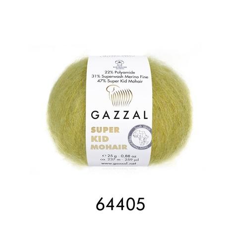 Пряжа Gazzal Super Kid Mohair цвет 64405