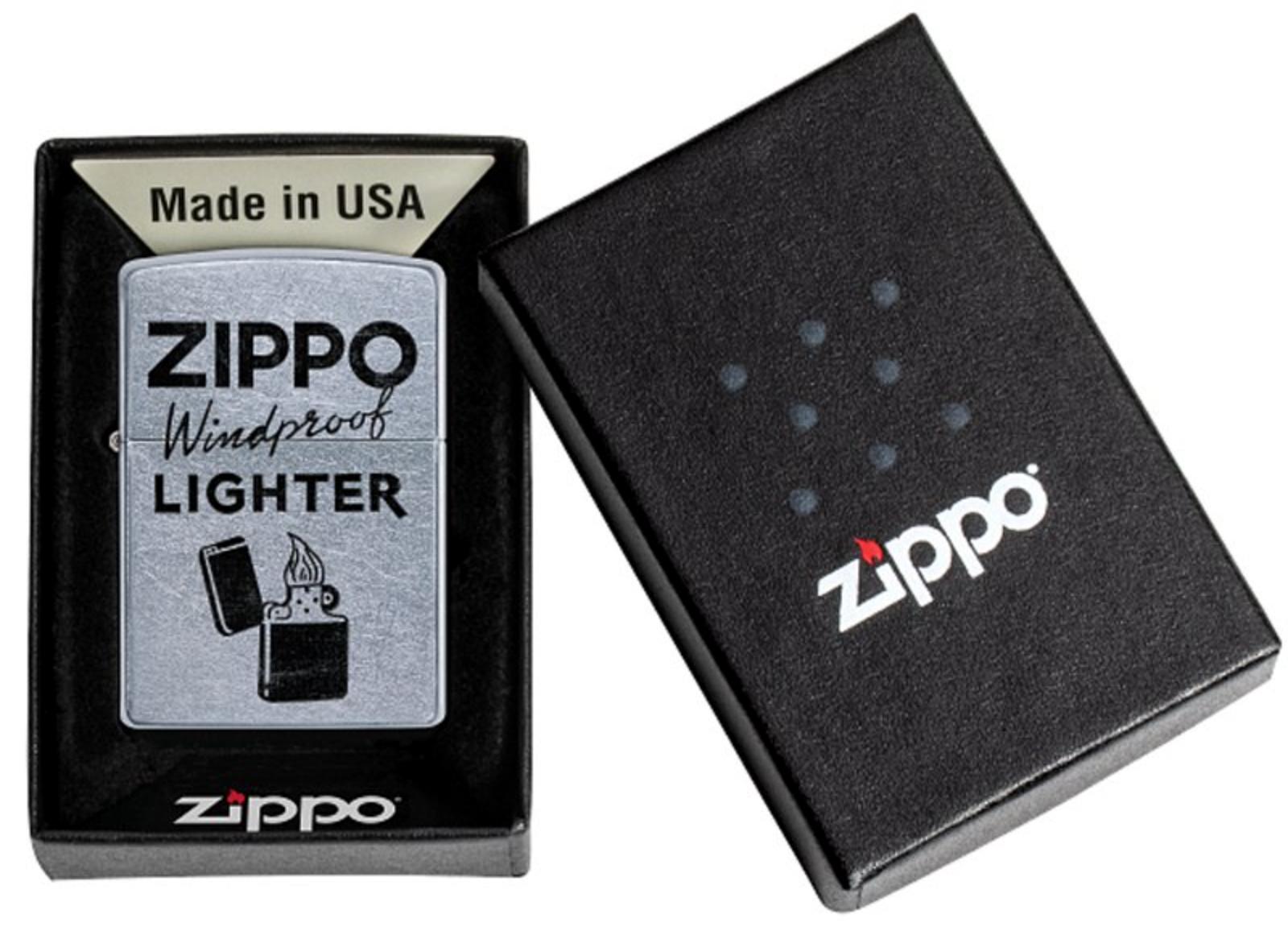 Зажигалка Zippo, цвет латунь/сталь, серебристая, 38х13х57 мм (Zippo Windproof) | Wenger-Victorinox.Ru