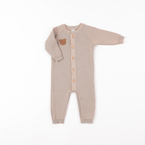 Knitted jumpsuit 0+, Light Cream