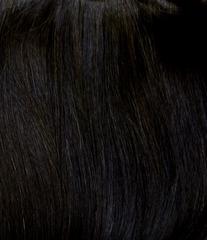 тресс из натуральных волос почти черный