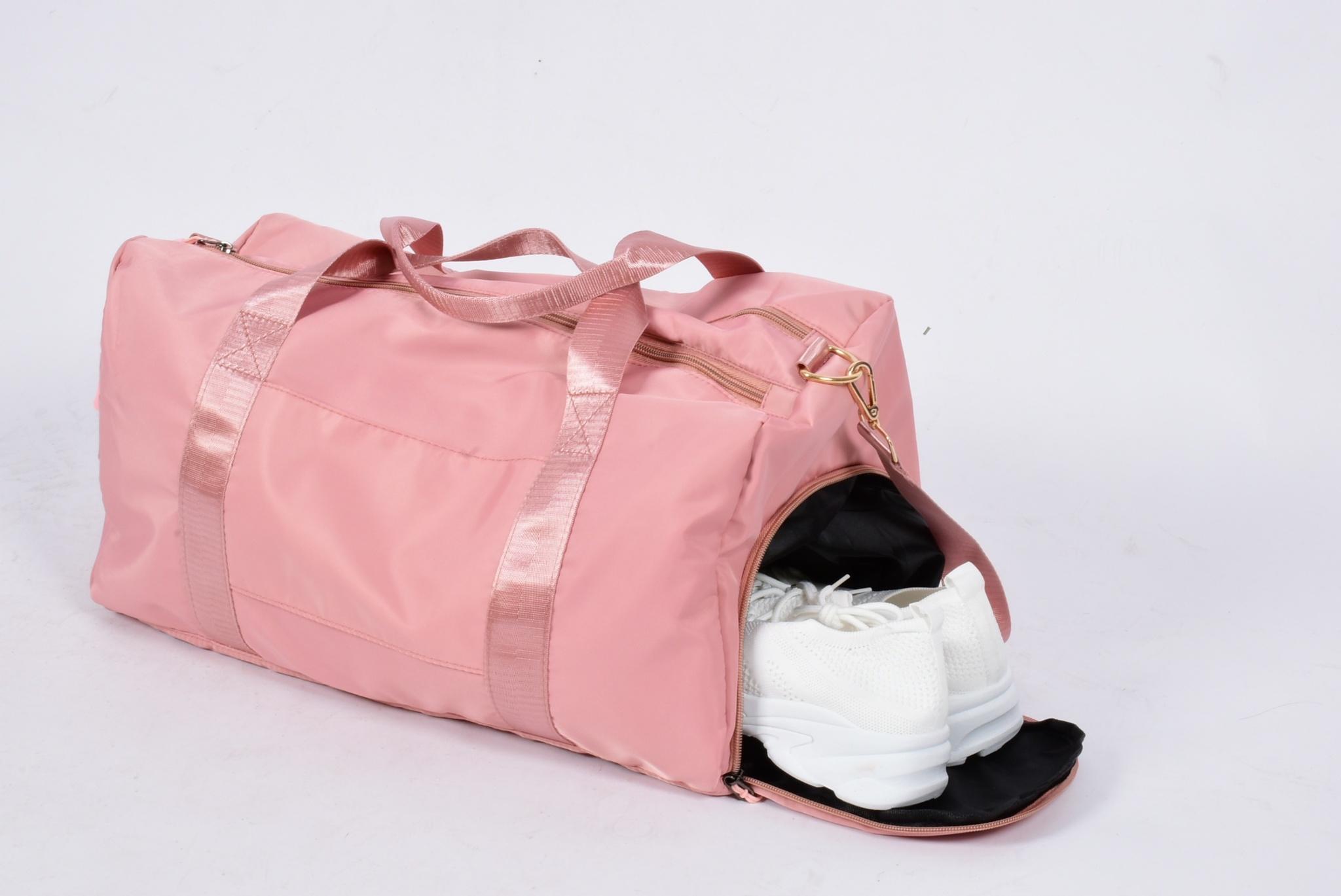 Спортивная сумка для фитнеса розовая