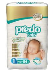 Predo. Подгузники Baby для новорожденных Преимущественная пачка № 1 (2-5 кг Newborn), 54 шт. вид 1