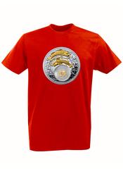 Футболка с принтом Знаки Зодиака, Рыбы (Гороскоп, horoscope) красная 004
