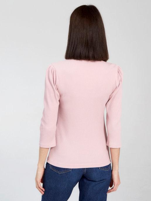 Лонгслив Chic mama с вертикальными секретами для кормления грудью и укороченным рукавом